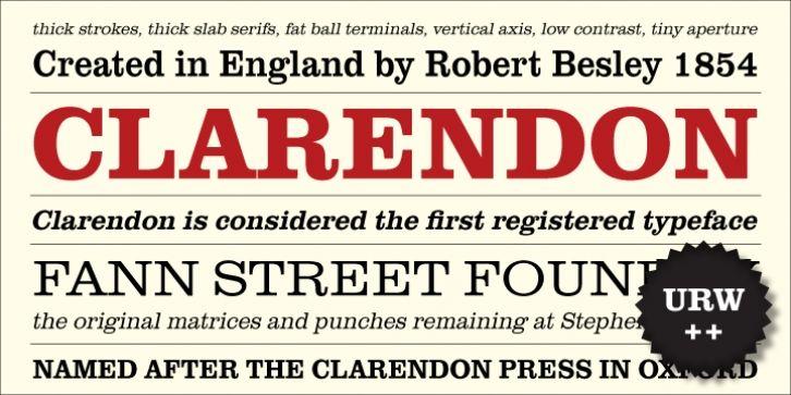 URW Clarendon® font download