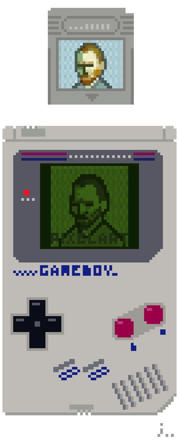 Pixel art 37(Ver.Nintendo GAMEBOY) by jaebum joo, via Behance