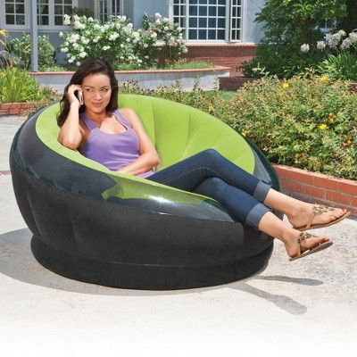 Peachy Intex Empire Inflatable Blow Up Lounge Dorm Camping Chair Onthecornerstone Fun Painted Chair Ideas Images Onthecornerstoneorg