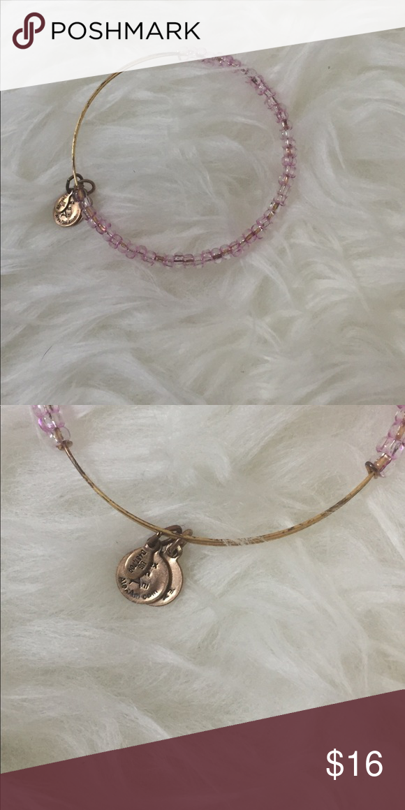 Alex & Ani Pink Bead Bracelet Alex & Ani Pink bead bracelet - good condition, some tarnish on gold part of bracelet. Alex & Ani Jewelry Bracelets