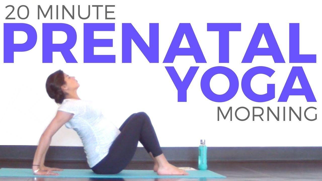 Prenatal Morning Yoga Routine (20 minute Yoga) All