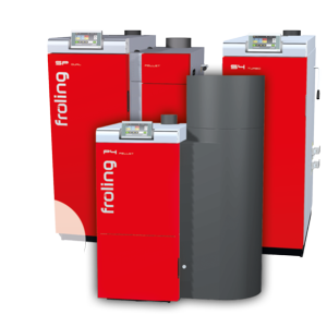 Compact Pellet Heating System Up To 35 Kw Froling Pe1 Pellet Froling Heating Systems Heating Boilers Locker Storage