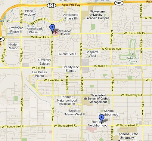 Map Of Glendale Arizona Map Of Glendale Az City Limits | Glendale | Map, City limits, City