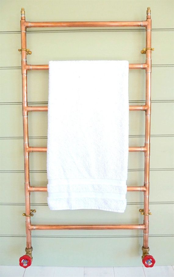 Heated Copper Towel Rail copper radiator heated copper | Badkamer ...