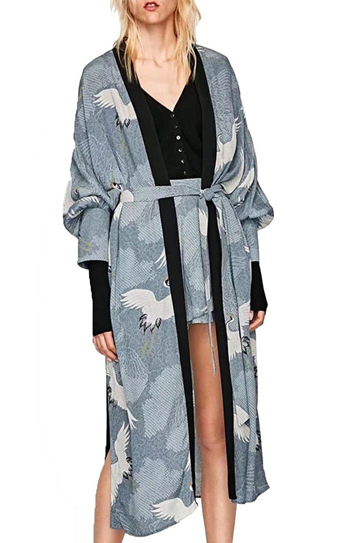 6dacb74c6e022 Women's Clothing, Coats, Jackets & Vests, Wool & Pea Coats, Women Casual  Loose Chiffon Long Kimono Cardigan Cover Up Outwear - Grey - CQ1860MC6GZ # women ...