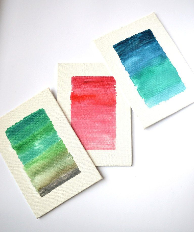 Ombre Watercolor Canvas Diy Diy Canvas Diy Wall Art Watercolor