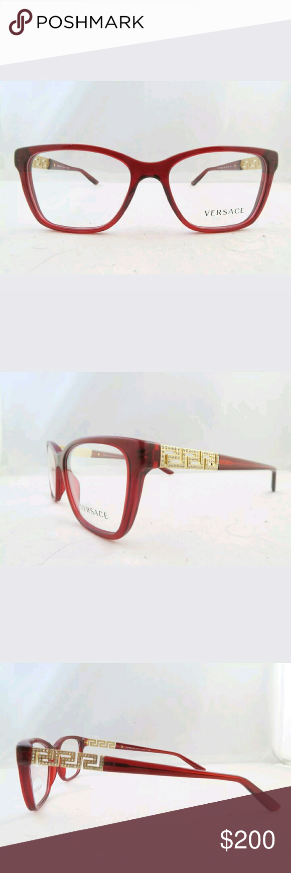 Versace Eyeglasses New and authentic Versace Eyeglasses Red and gold ...
