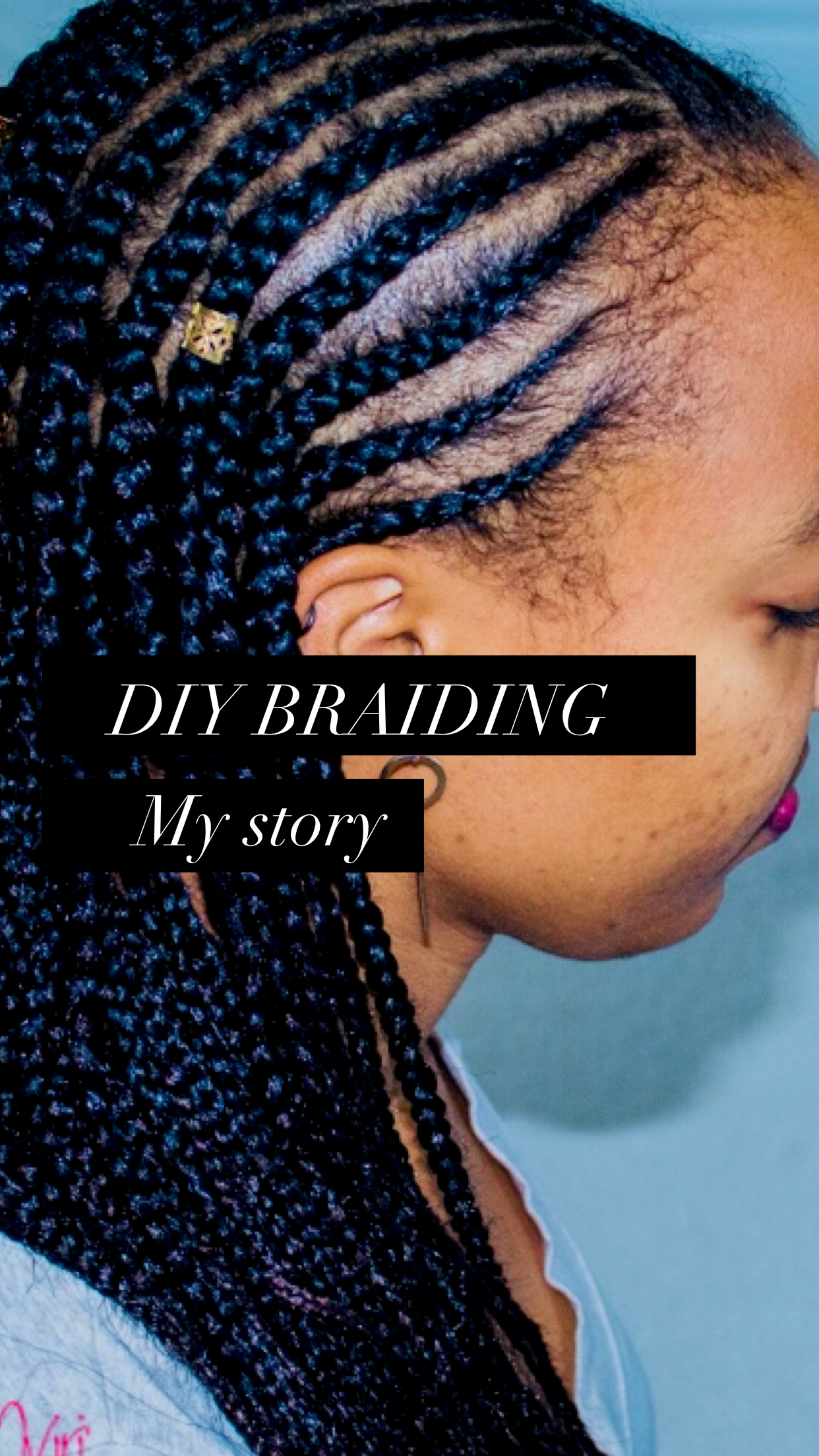 Braiding Your Own Hair Cornrow Braids Black Women Straightback
