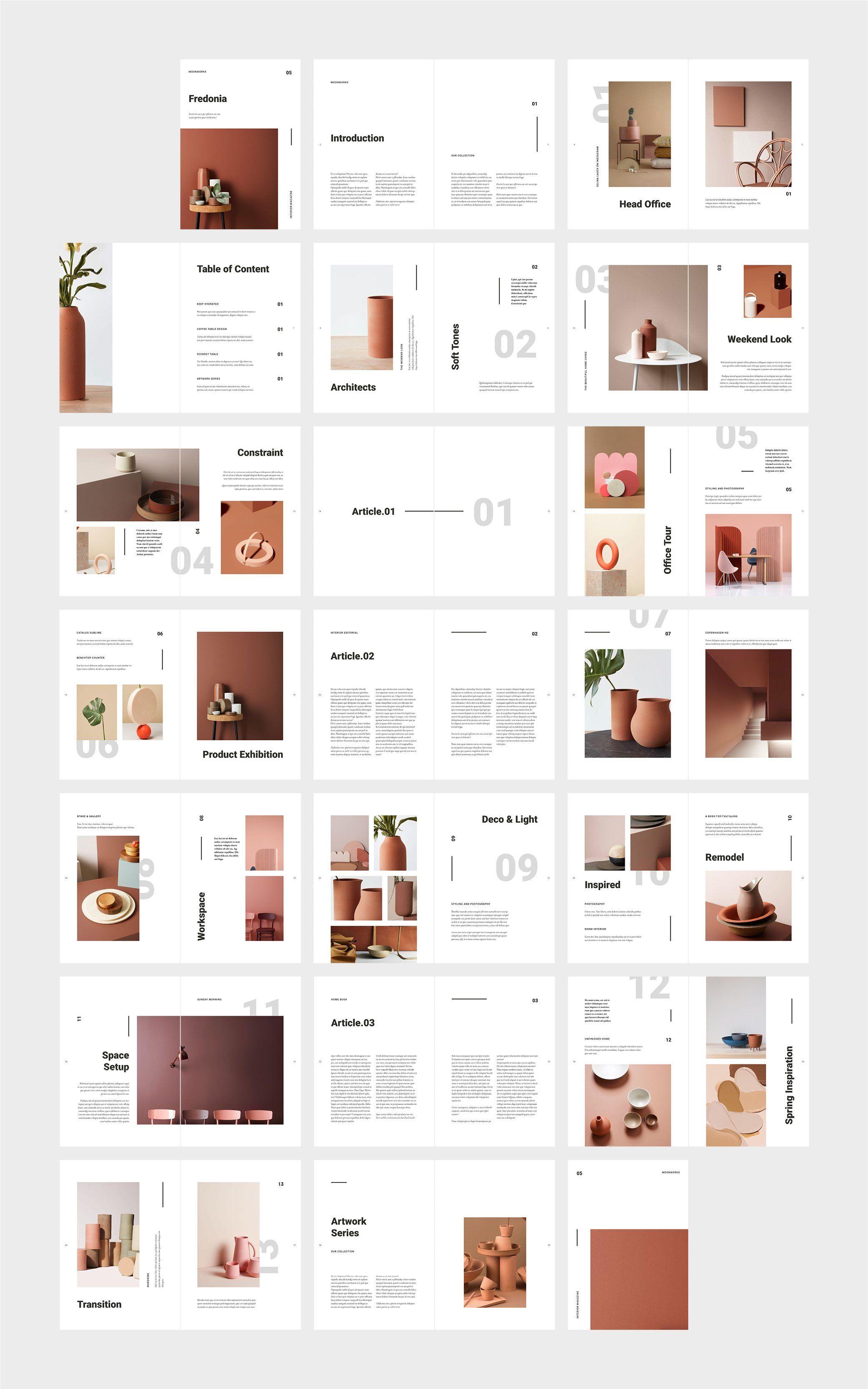 Fredonia Home Decor Catalog 인쇄 레이아웃 레이아웃 레이아웃 템플릿