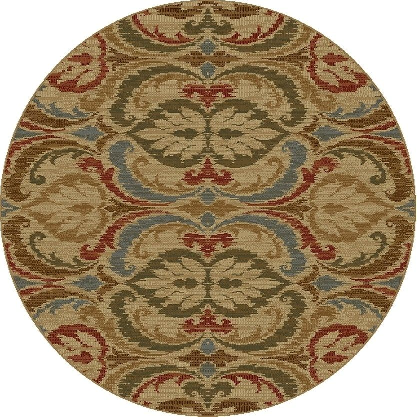 Kas Lifestyles Gold Firenze Round Rug 7 10 Round Gold 7 10 Round Yellow Kas Rugs Polypropylene Oriental Area Rugs Rugs Kas Rugs