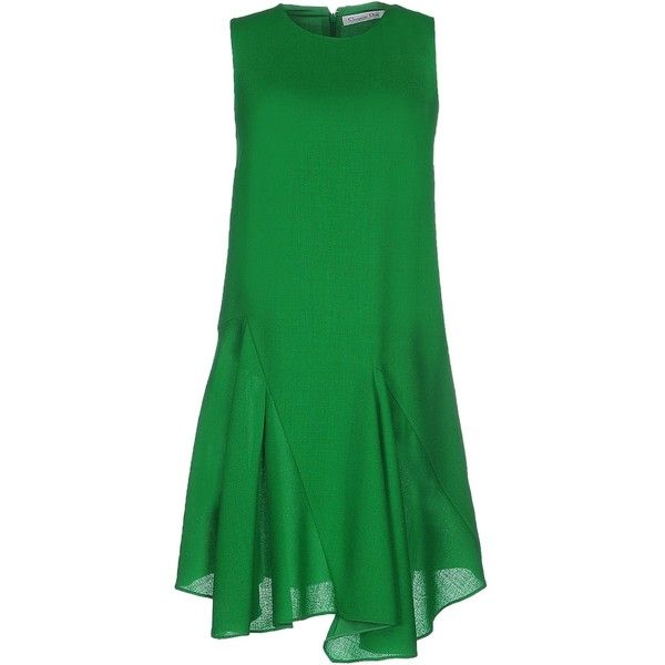 Dior Short Dress ($1,185) ❤ liked on Polyvore featuring dresses, green, christian dior, zipper mini dress, zipper dress, short green dress и christian dior dresses