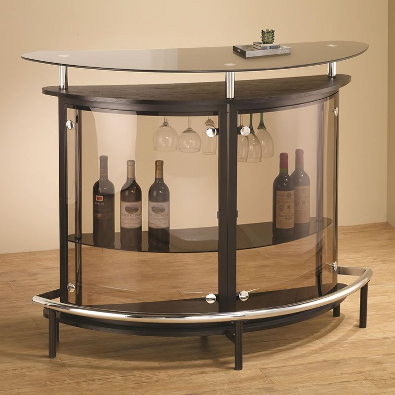 Black Home Bar Furniture: Modern Corner Bar Unit In White Or Black