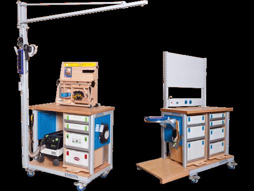 montagetische einemann arbeitsplatzsysteme mobile werkbank zuk nftige projekte pinterest. Black Bedroom Furniture Sets. Home Design Ideas