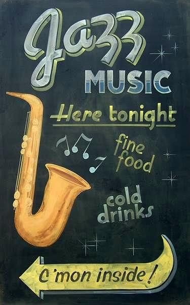 "TIN SIGN /""New Orleans Jazz/""  Music Garage Wall Decor"