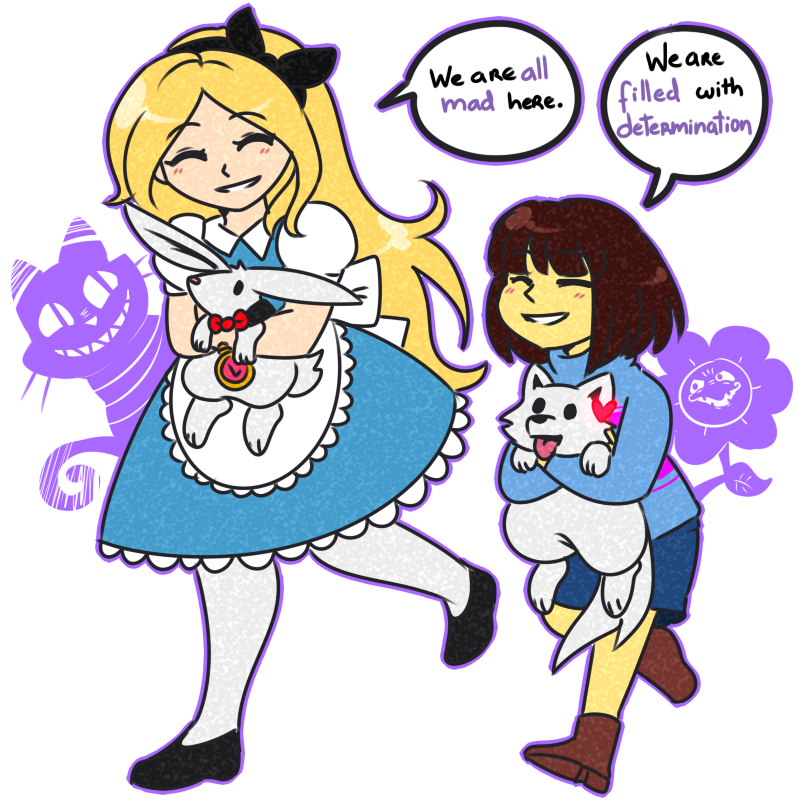 _crossover__alice_in_wonderland___undertale_by_rumay_chian-d9l9c3v.png (800×800)