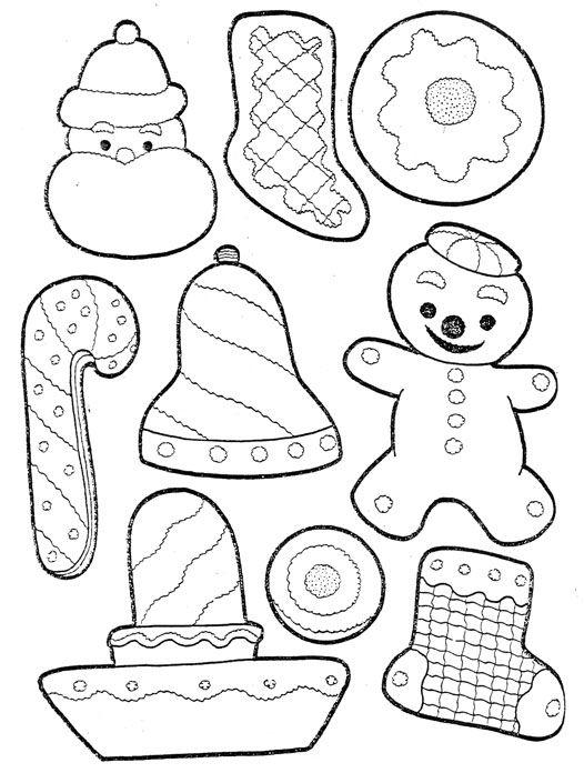 Bozonarodzeniowe Ciastka Cukrowe Christmas Printable Templates White Christmas Snowflakes Felt Ornaments Patterns