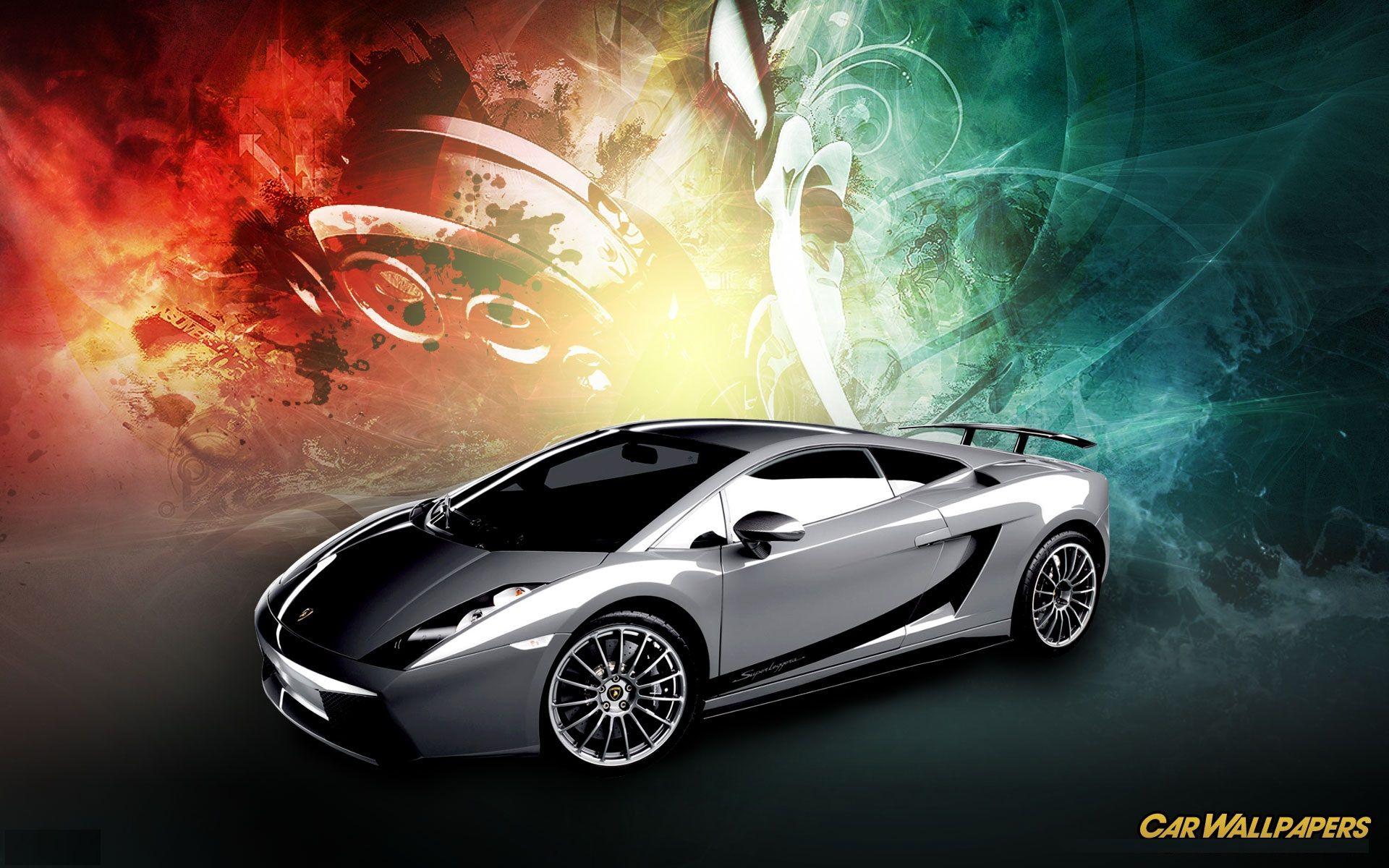 Attractive Abstract Silver Lamborghini HD Wallpaper For Desktop Backgrounds.