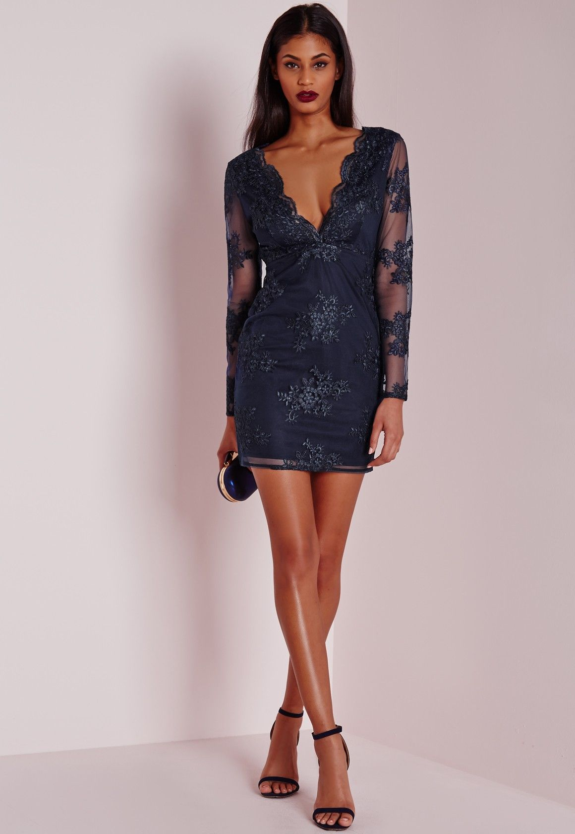 Missguided velvet racer high neck midi dress black in black lyst - This Super Sexy Lace Mini Dress From Our Premium Collection Is Our Current Fave Here At Missguided