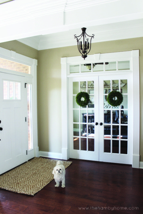 How To Hang Wreaths On Your French Doors Without Damaging The Doors French Doors French Door Decor Glass Doors Interior