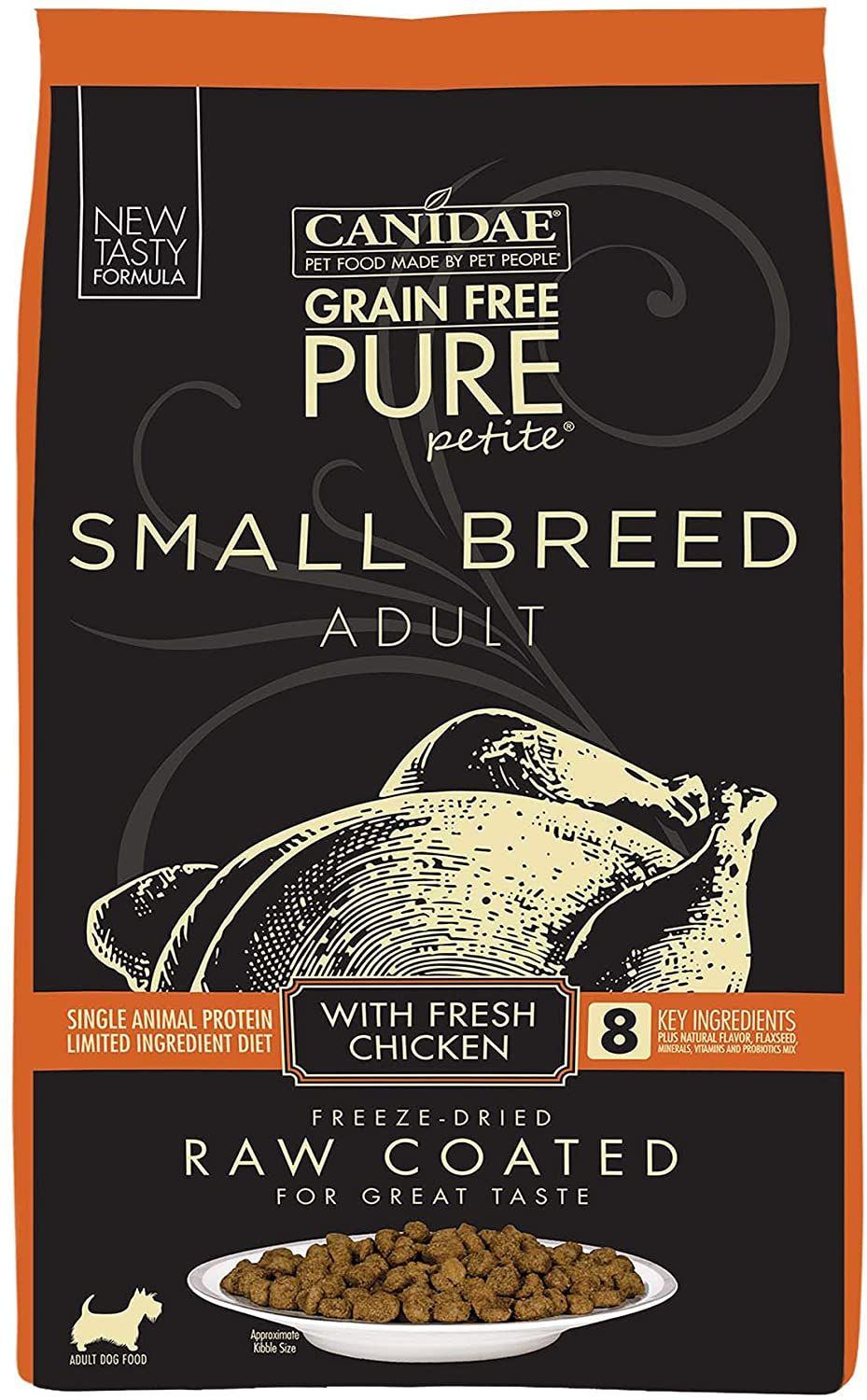 Canidae pure petite raw coated chicken dog food 10lb pet