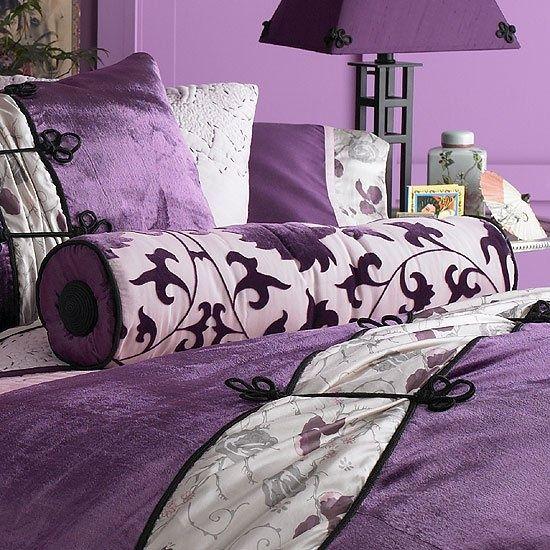 Dormitorios Con Acentos En Morado P�rpura Y Lila: Fotos De Dormitorios Morados Violetas Lilas