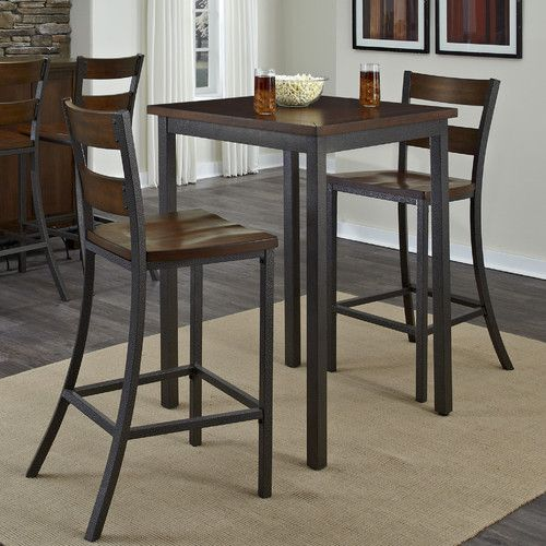 Home Styles Cabin Creek Bistro Table Set With Stools And Dining Home And  Patio Decor Center
