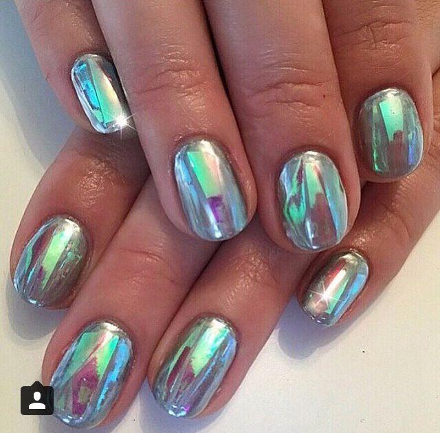 Mermaid Opal Nails // Patrizia Conde | Nails | Pinterest | Vidrio ...