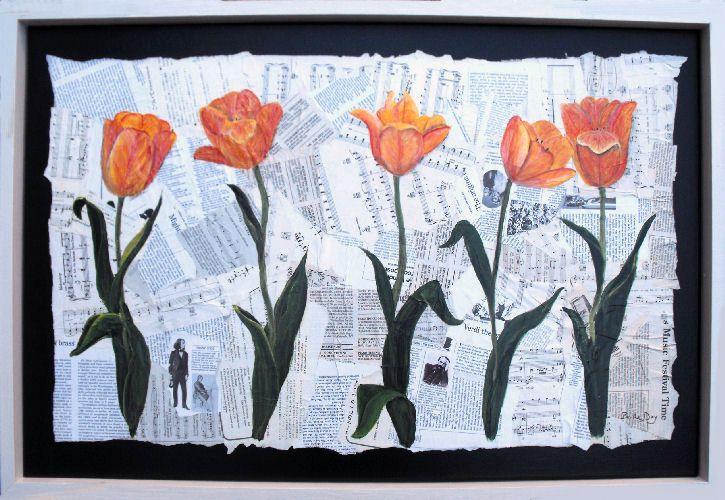 Con papel de periódico | Collage | Pinterest | DIY y manualidades ...