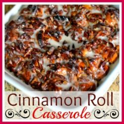 Slow Cooker Cinnamon Rolls + Plus WIN a Gooseberry Patch Cookbook! - Mrs Happy Homemaker #cinnamonrollpokecake