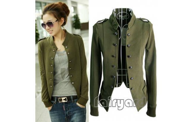 Chaqueta Militar Mujer Buscar Con Google Military Style Jackets Cool Outfits Jackets For Women
