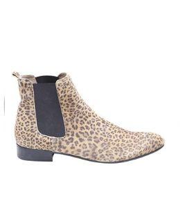 Ganni+Leopard+chelsea+boots