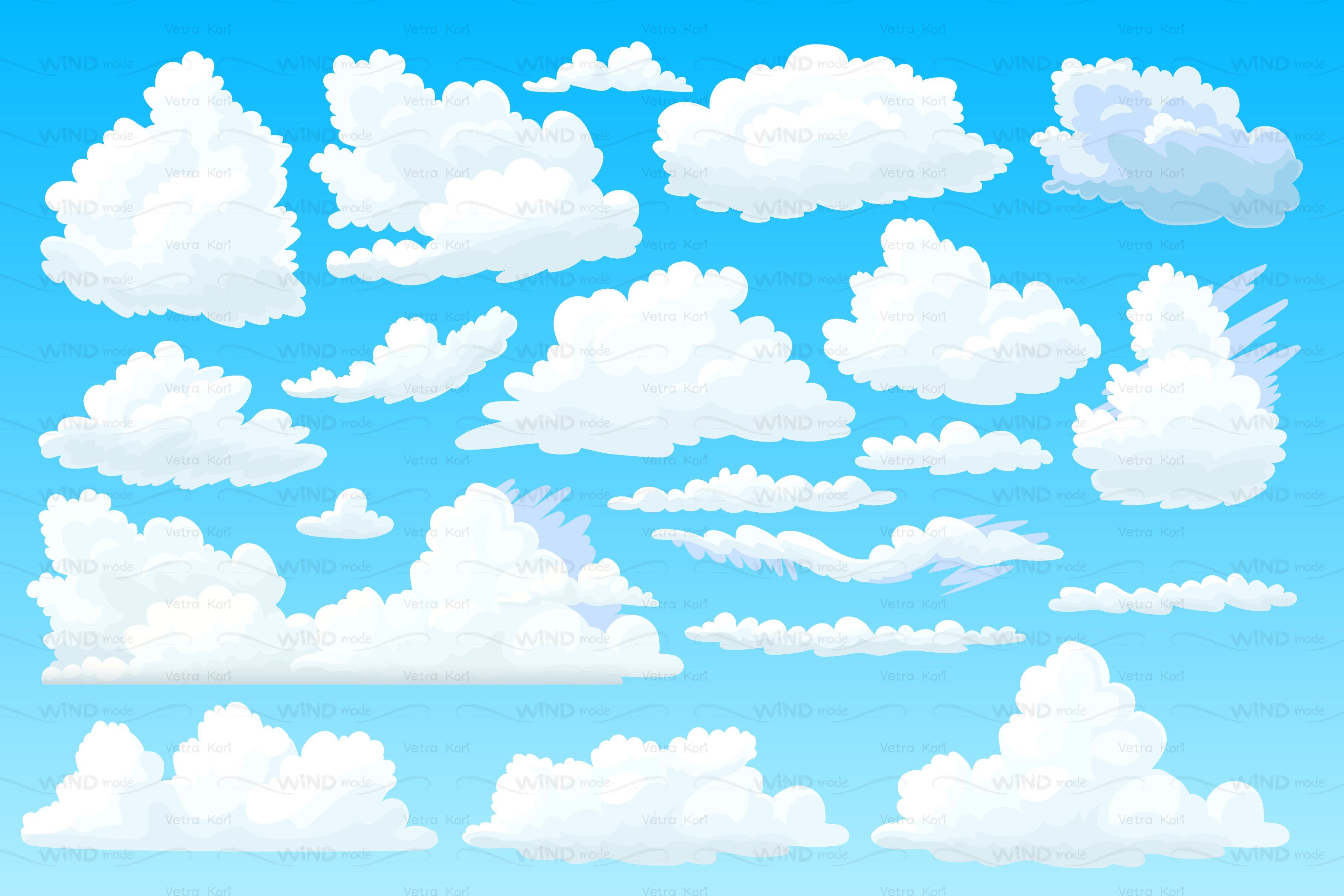 Vector Shaped Fluffy Cloud In 2020 Vector Shapes Cartoon Clouds Cloud Drawing