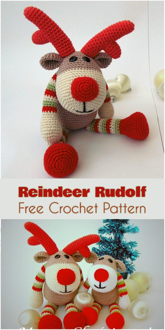 Reindeer Rudolf [Free Crochet Pattern] | Weihnachten häkeln ...