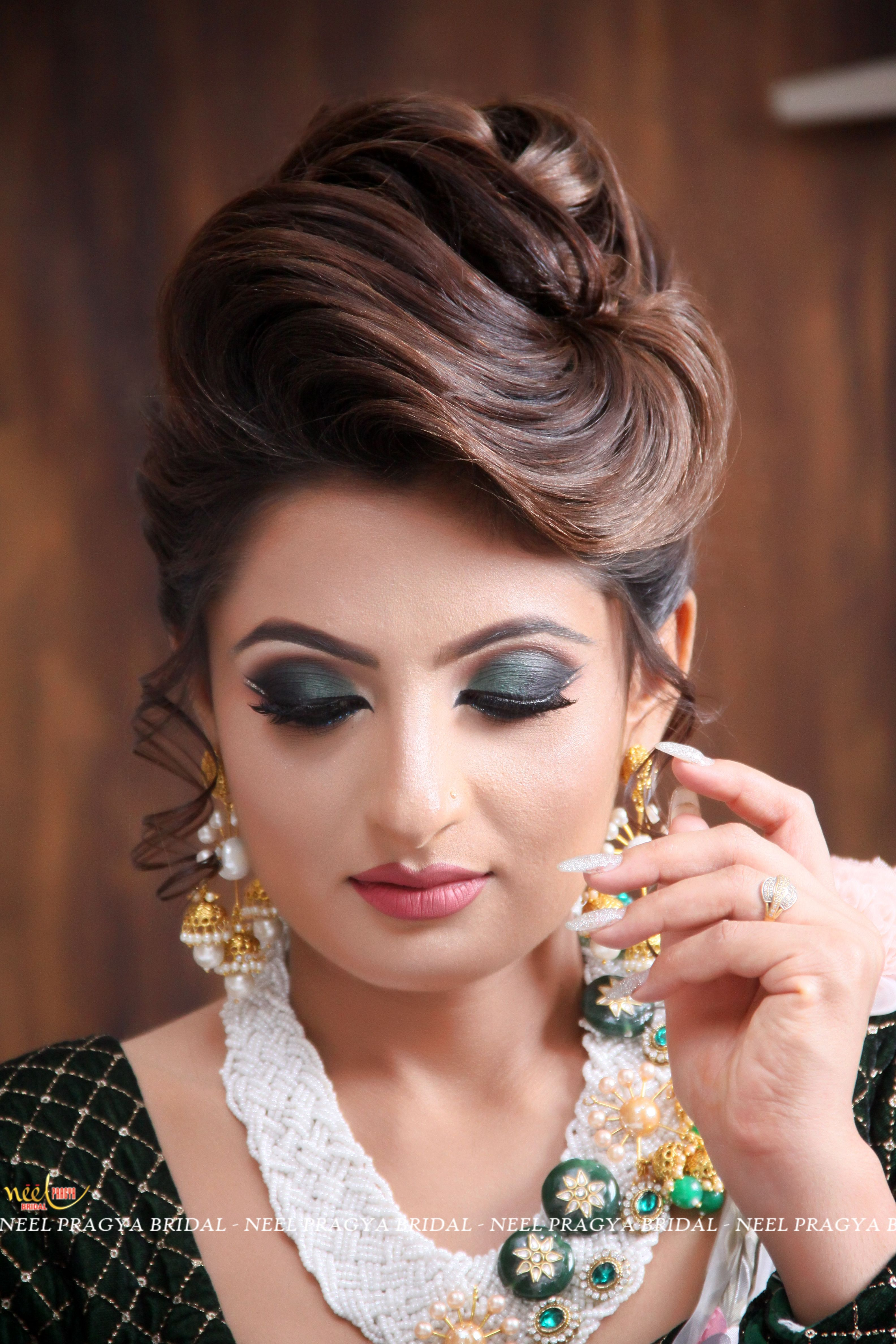 Bridal Hair Buns Image By Neel Bridal Makeover On