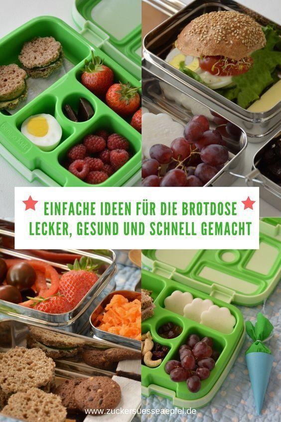 Einfache, gesunde und leckere Ideen für die Brotdose für Schule und Kindergarten