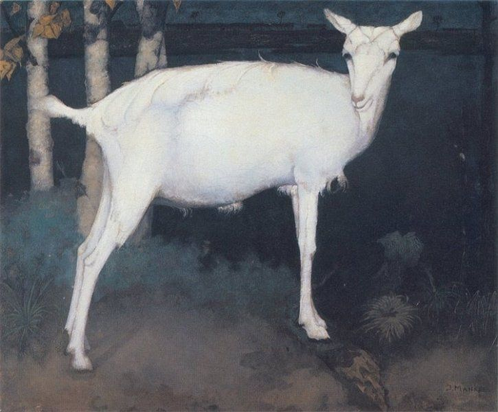 jan mankes | Jan Mankes 1889-1920Young white goat 1914 oil on canvas