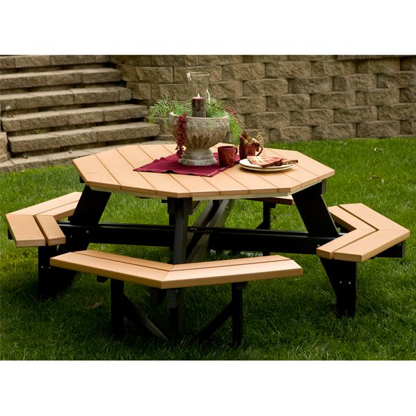 Berlin Gardens Poly Wood Octagon Picnic Table