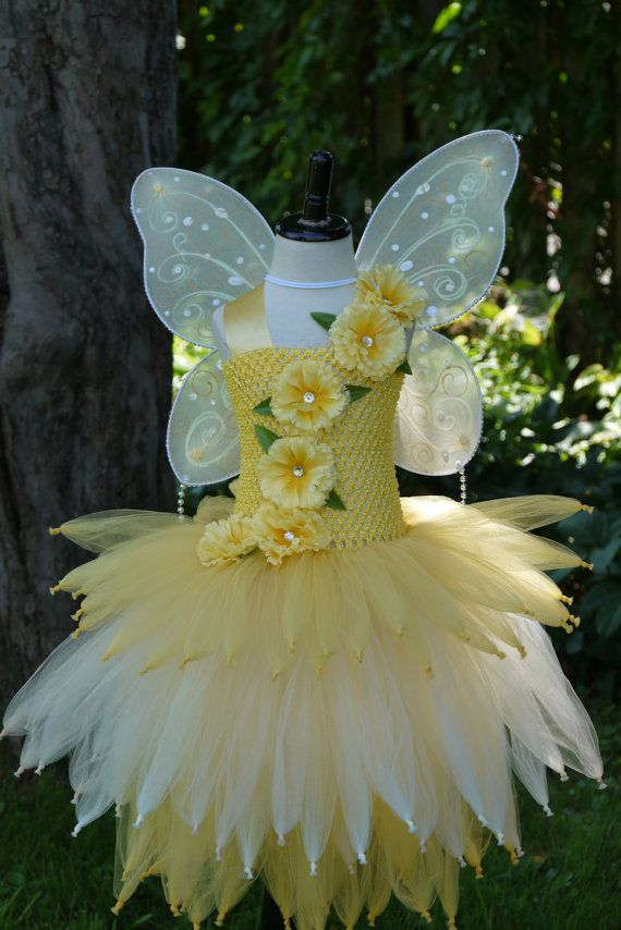 9c87bc60ffd Exquisite deluxe water fairy tutu dress. Colors: yellow gold ivory Handmade  satin/fabric flowers with rhinestones. special tulle weaving to create  perfect ...