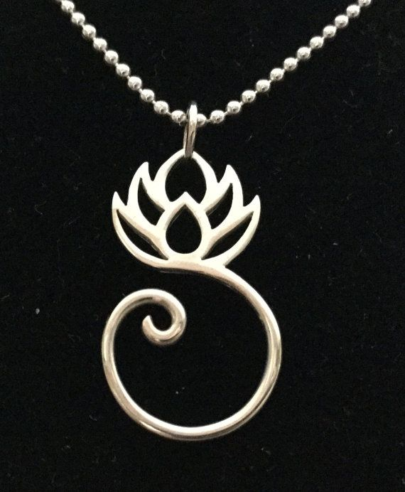 Sterling silver artisan swirl lotus pendant necklace 18 can be sterling silver artisan swirl lotus pendant necklace 18 can be customized with charms for audiocablefo