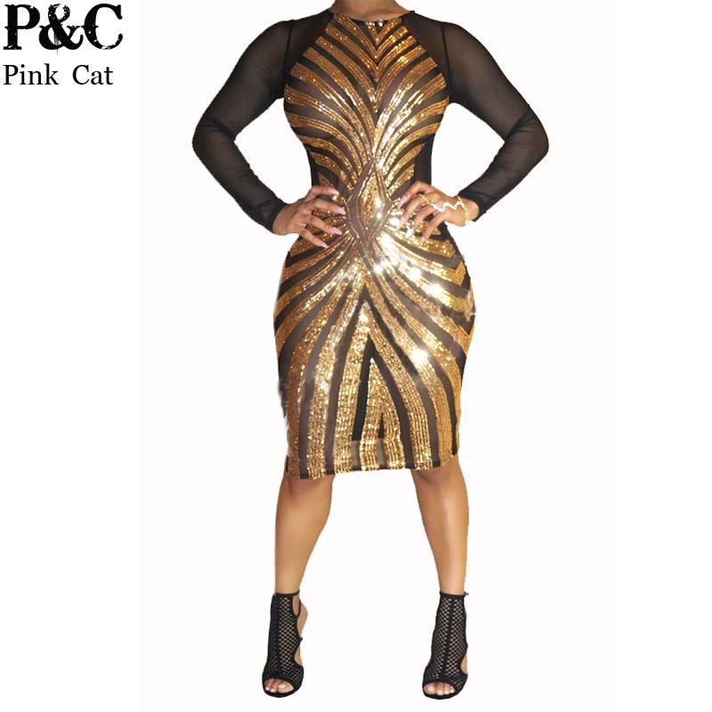 Black and white bodycon plus size dresses