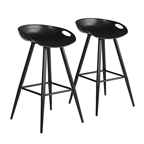 Admirable Furniturer 2Pcs Set Pub Bar Stools Retro Design Metal Round Cjindustries Chair Design For Home Cjindustriesco