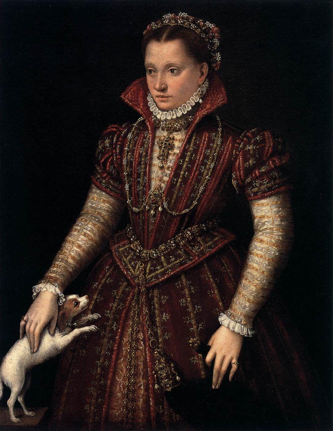 FONTANA, Lavinia. Portrait of a Noblewoman c. 1580. Oil on