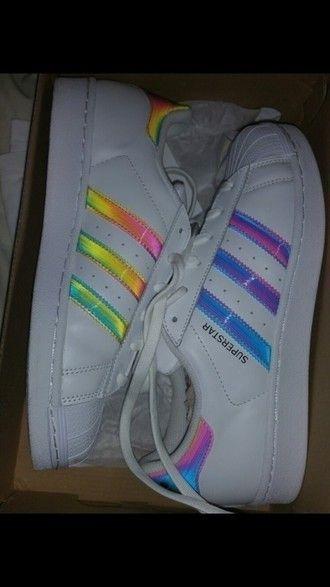 adidas superstar rainbow color