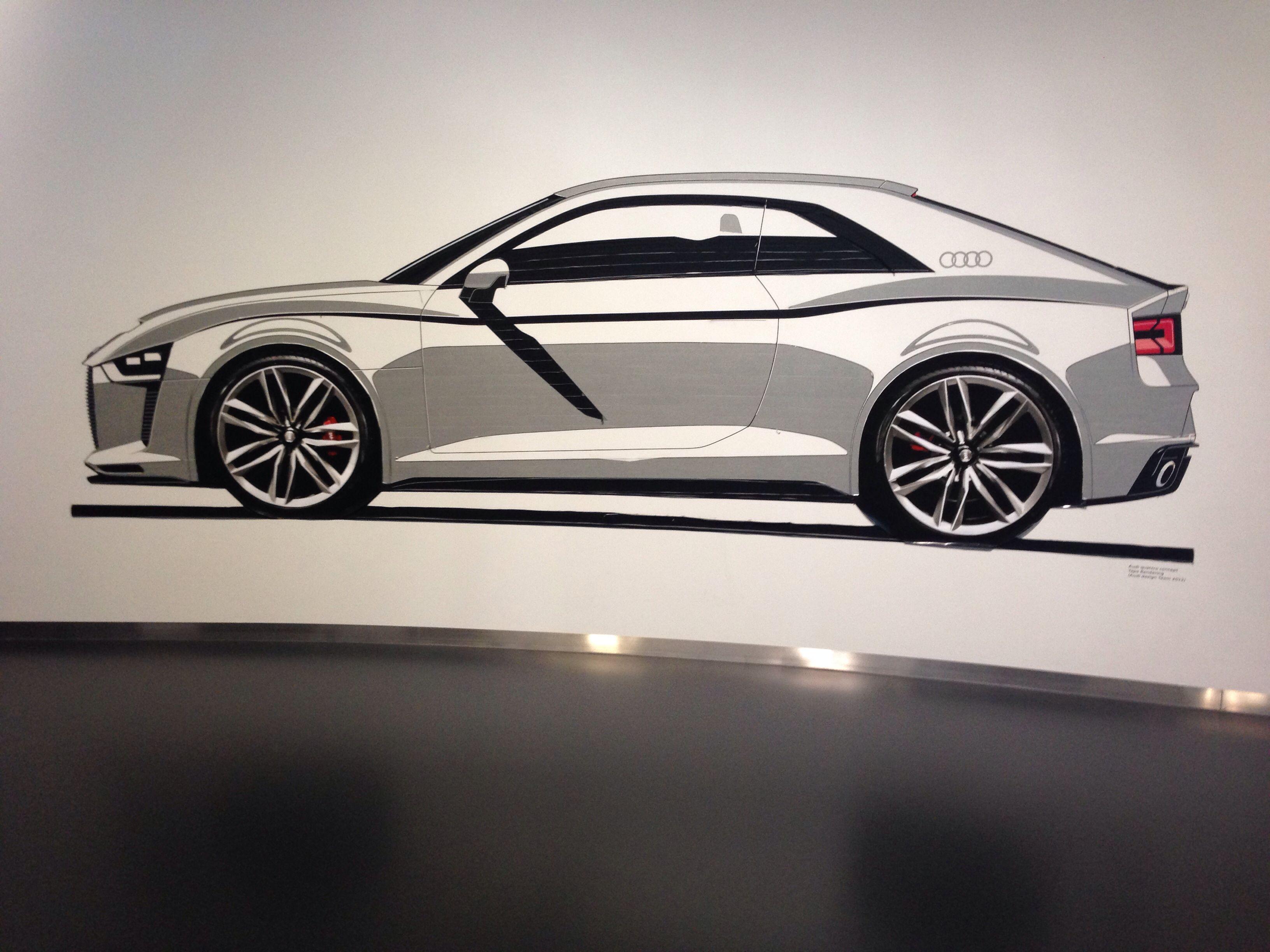 Audi tape render, amazing! Autostadt Audi pavilion - Wolfsburg