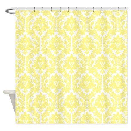 Light Yellow Damask Shower Curtain By Zandiepants Yellow Shower