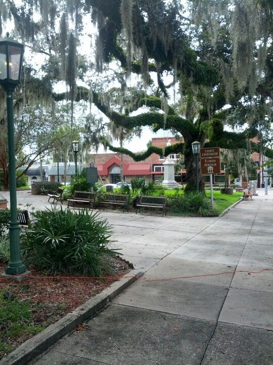 Downtown Brooksville By The Court House Beautiful Florida