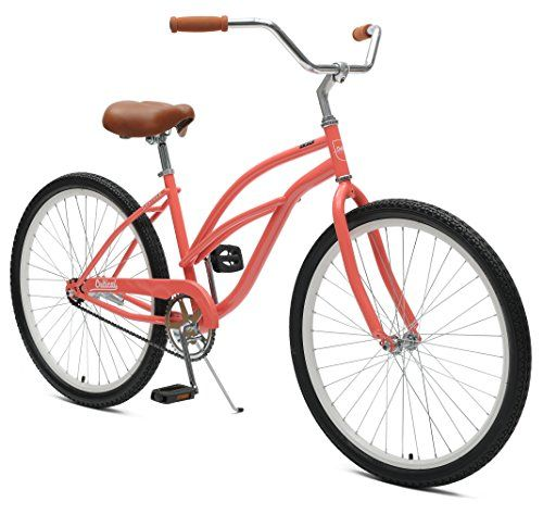 Critical Cycleschatham Beach Womens Cruiser Bike Coral 26 Inch