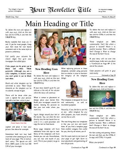 Classic Newsy Front Page For Any School Try This 11x14