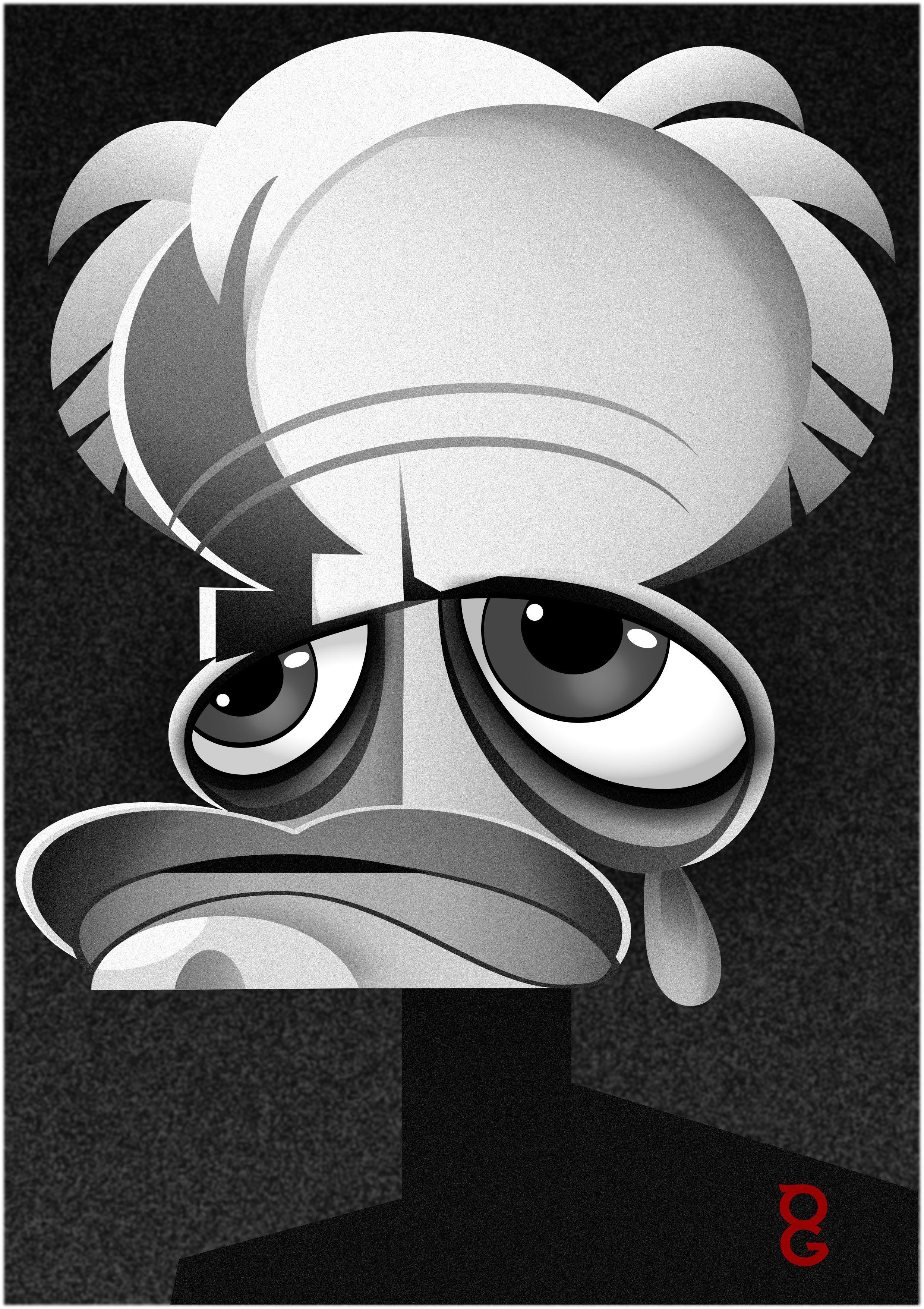 Klaus kinski caricature cartoon klaus