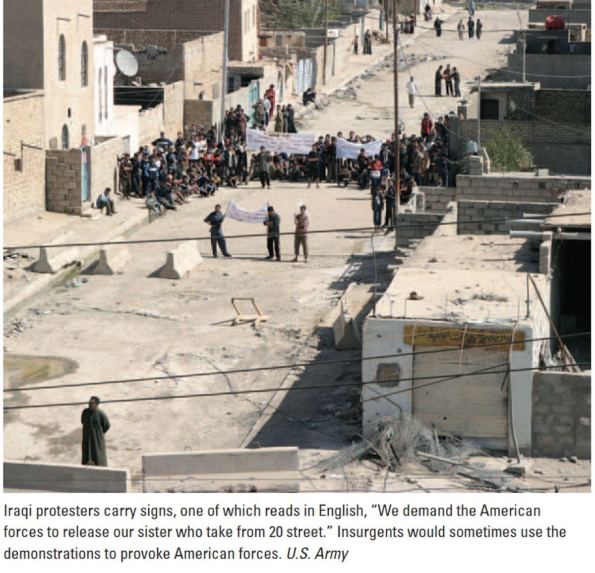 Iraqi protesters in fallujah in 2020 military history
